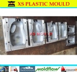 Plastic extrusion blow mould